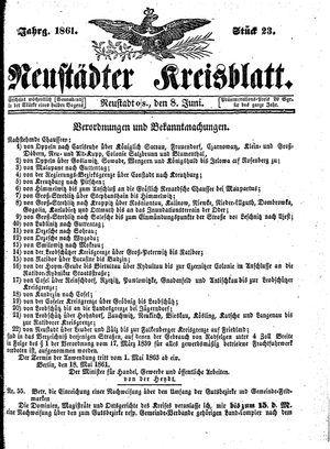 Neustädter Kreisblatt vom 08.06.1861