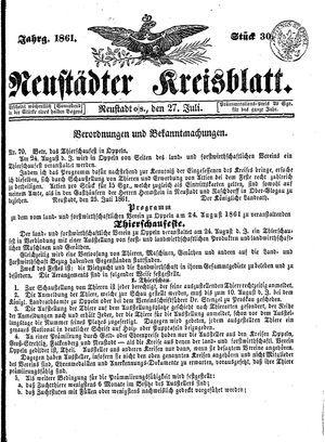 Neustädter Kreisblatt vom 27.07.1861