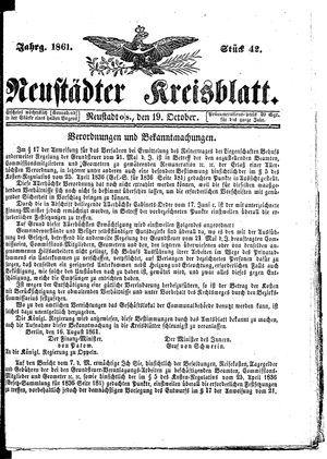 Neustädter Kreisblatt on Oct 19, 1861