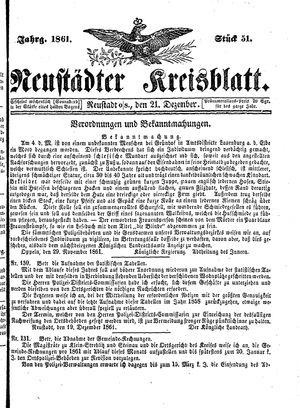 Neustädter Kreisblatt on Dec 21, 1861