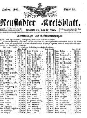Neustädter Kreisblatt vom 30.05.1863