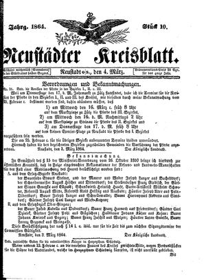 Neustädter Kreisblatt on Mar 4, 1864