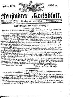 Neustädter Kreisblatt on Jul 9, 1864