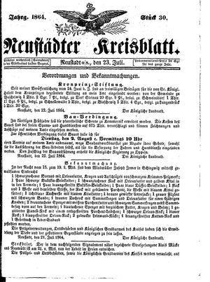 Neustädter Kreisblatt on Jul 23, 1864