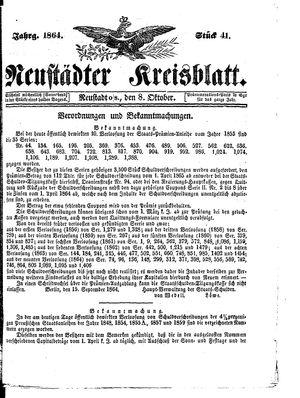 Neustädter Kreisblatt vom 08.10.1864