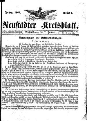 Neustädter Kreisblatt on Jan 7, 1865