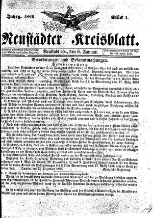 Neustädter Kreisblatt vom 06.01.1866