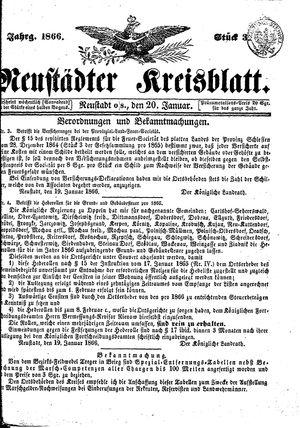 Neustädter Kreisblatt vom 20.01.1866