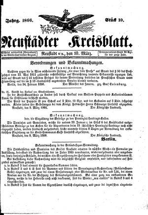 Neustädter Kreisblatt on Mar 10, 1866