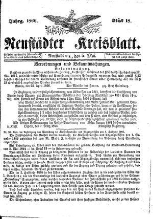 Neustädter Kreisblatt vom 05.05.1866
