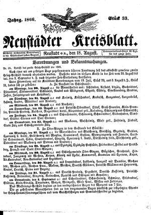 Neustädter Kreisblatt vom 18.08.1866
