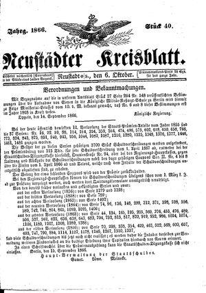 Neustädter Kreisblatt vom 06.10.1866