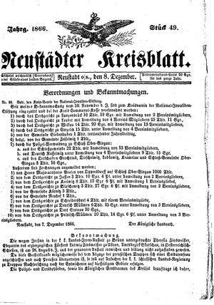 Neustädter Kreisblatt vom 08.12.1866