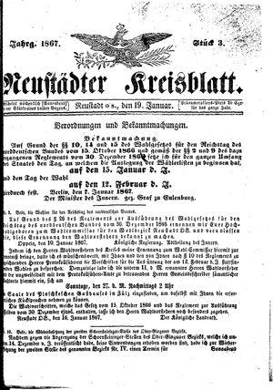 Neustädter Kreisblatt on Jan 19, 1867
