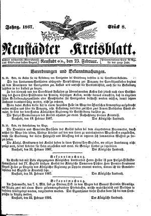 Neustädter Kreisblatt on Feb 23, 1867