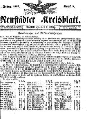 Neustädter Kreisblatt on Mar 2, 1867
