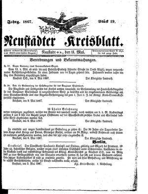 Neustädter Kreisblatt on May 11, 1867
