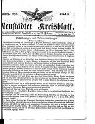Neustädter Kreisblatt (22.02.1868)
