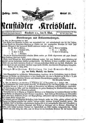Neustädter Kreisblatt vom 09.05.1868