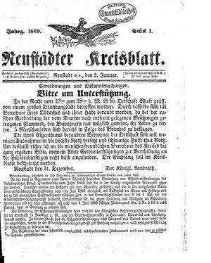 Neustädter Kreisblatt vom 02.01.1869