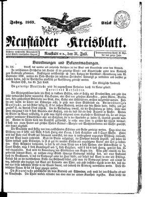 Neustädter Kreisblatt on Jul 31, 1869