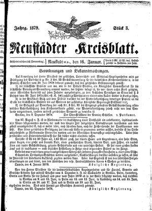 Neustädter Kreisblatt vom 16.01.1879