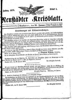 Neustädter Kreisblatt vom 30.01.1879
