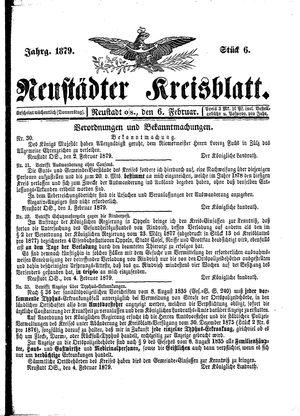 Neustädter Kreisblatt vom 06.02.1879