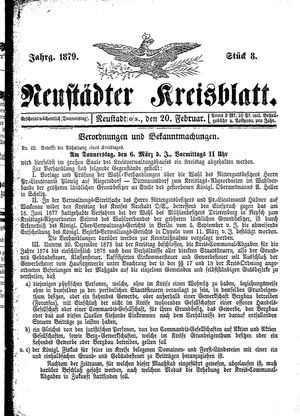 Neustädter Kreisblatt on Feb 20, 1879