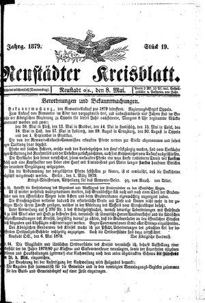 Neustädter Kreisblatt vom 08.05.1879