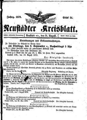Neustädter Kreisblatt vom 21.08.1879