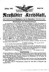 Neustädter Kreisblatt (22.09.1881)
