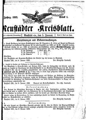 Neustädter Kreisblatt vom 05.01.1882