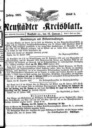 Neustädter Kreisblatt vom 19.01.1882