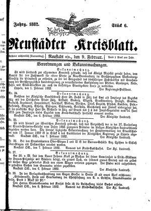 Neustädter Kreisblatt vom 09.02.1882