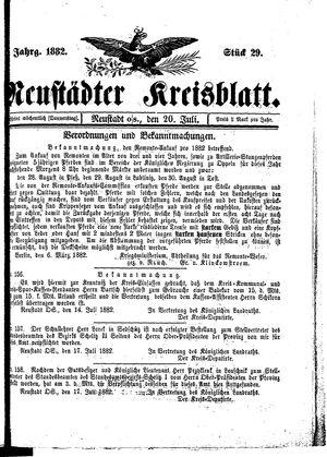 Neustädter Kreisblatt on Jul 20, 1882