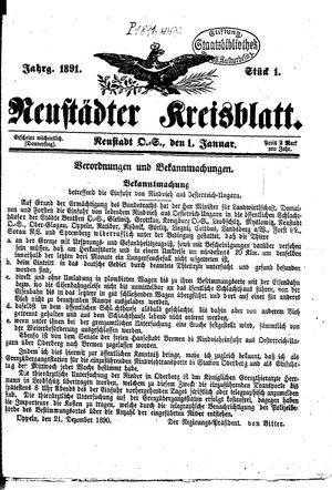 Neustädter Kreisblatt vom 01.01.1891