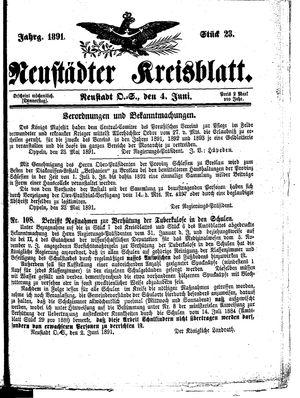 Neustädter Kreisblatt on Jun 4, 1891