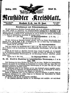 Neustädter Kreisblatt on Jun 22, 1893