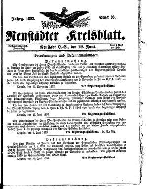 Neustädter Kreisblatt vom 29.06.1893