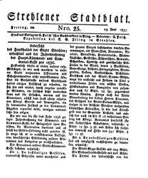 Strehlener Stadtblatt (23.06.1837)