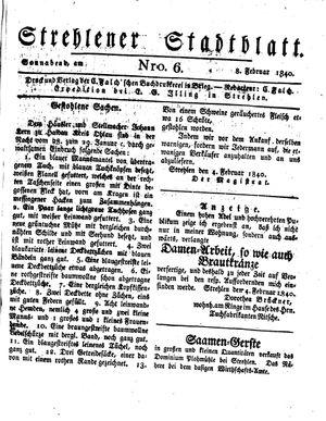 Strehlener Stadtblatt on Feb 8, 1840