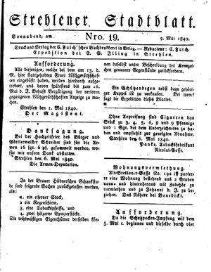 Strehlener Stadtblatt on May 9, 1840
