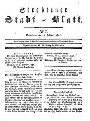 Strehlener Stadtblatt on Feb 13, 1841