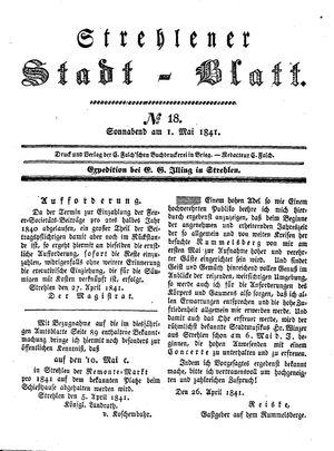 Strehlener Stadtblatt vom 01.05.1841