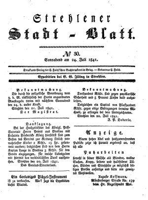 Strehlener Stadtblatt on Jul 24, 1841