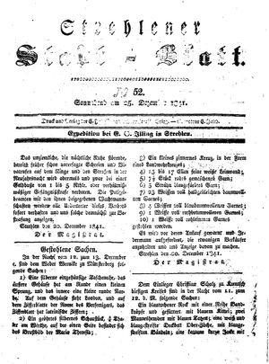 Strehlener Stadtblatt vom 25.12.1841