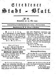 Strehlener Stadtblatt (28.05.1842)