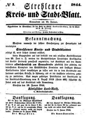 Strehlener Kreis- und Stadtblatt vom 13.01.1844