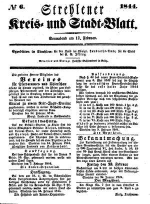 Strehlener Kreis- und Stadtblatt vom 17.02.1844